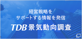 経営戦略を サポートする情報を発信  TDB景気動向調査